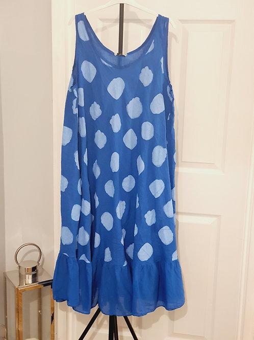 Melissa spotty Dress Cobalt Blue