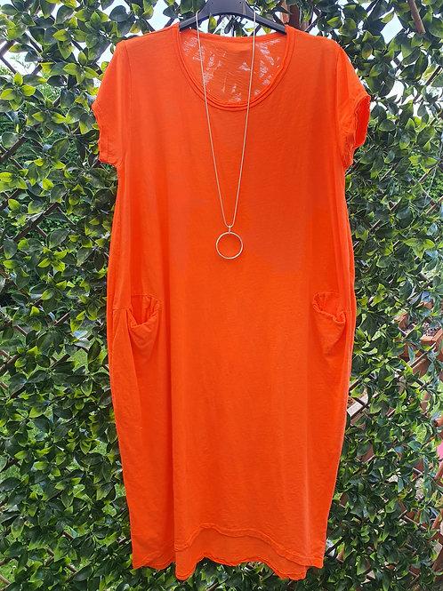 Jessie Midi Dress Orange