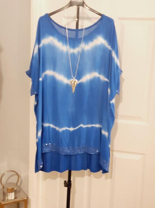 Suzy Tie dye Top Cobalt Blue
