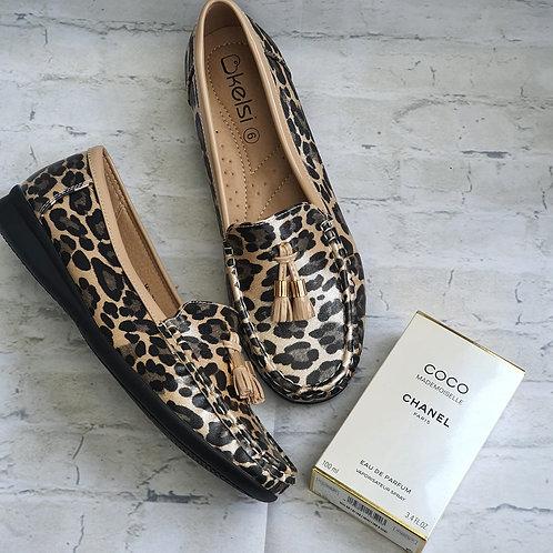 Luna Leopard Loafer Brown