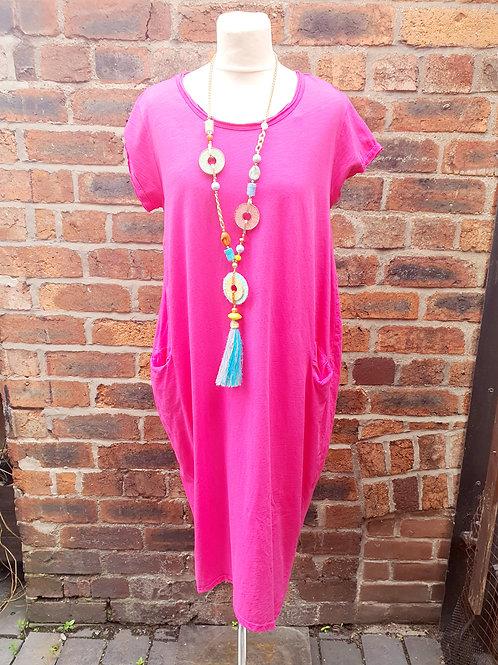 Jessie Midi Dress Hot Pink