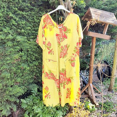 Abigail Linen Dress Lime