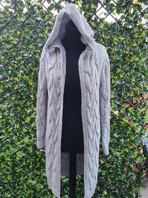 Veinna Cable Knit Cardi Coat