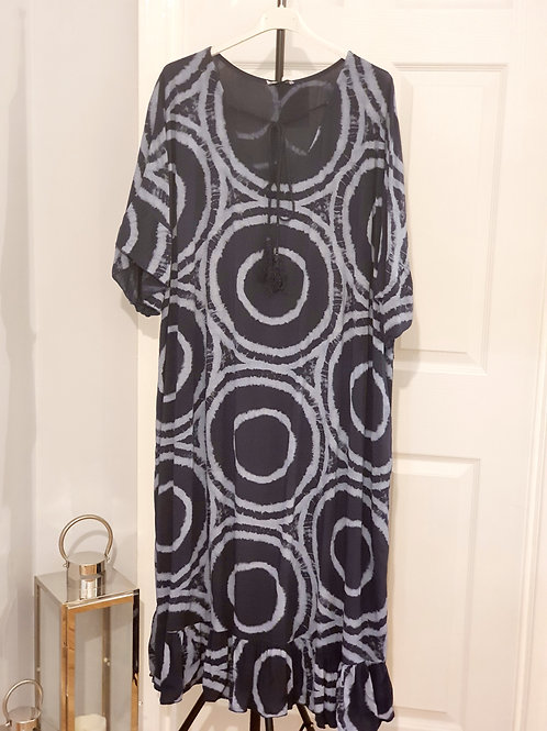 Tye Dye Maxi Dress Navy