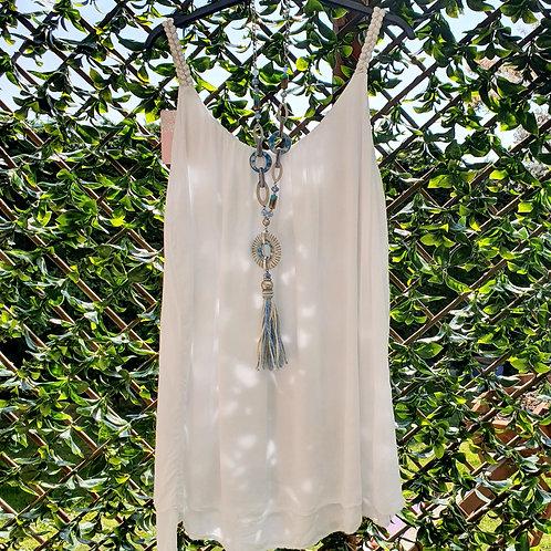 Mimi Vest Top White
