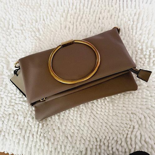 Clutch Bag / Messenger Bag  Mocha