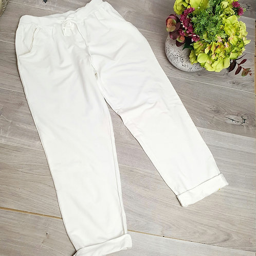 Tilly White Joggers Size 1