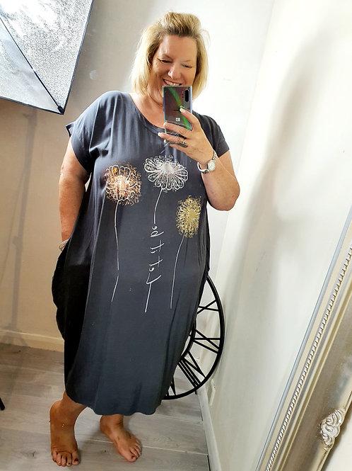 Daisy Dress Charcoal