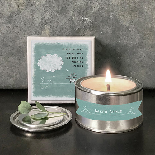 Mum is a small word Candle