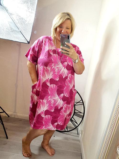 Lily Dress Hot Pink