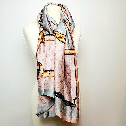Silk Inspired Scarf Pink