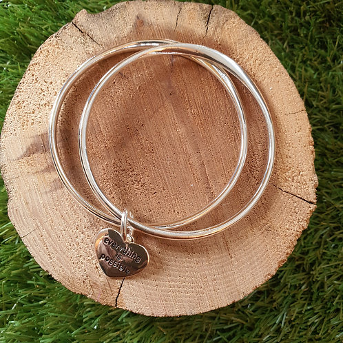 Everything is possible double bangle