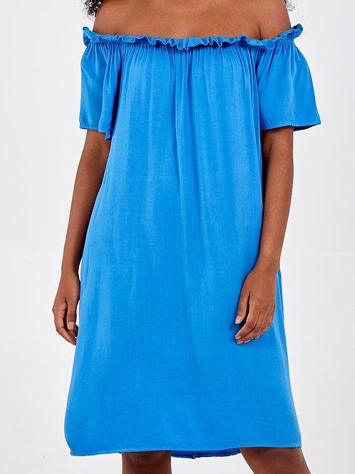 Bardot Dress Royal Blue
