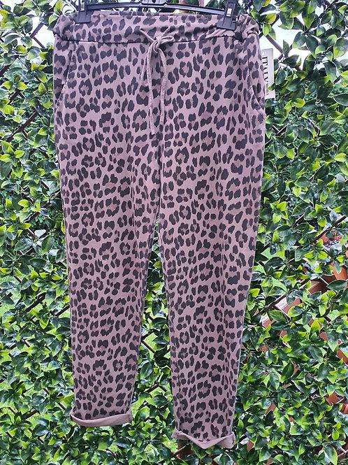 Leopard Print Joggers Size 1 Grey