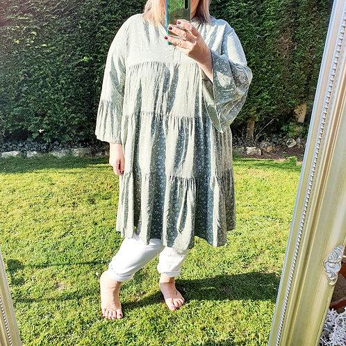 Sophia Smock Dress Khaki