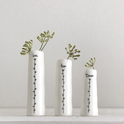 Love Hope Dream Trio Bud Vases