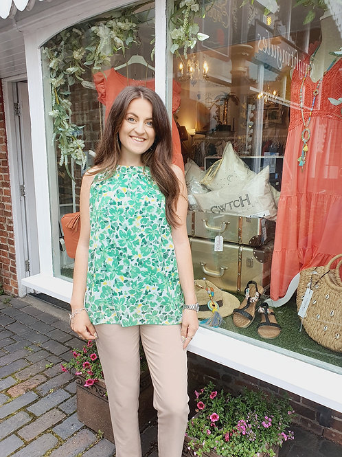 Dina Chiffon Top Emerald Green