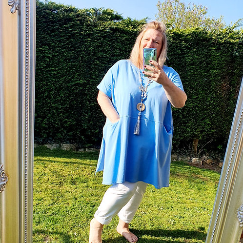 Gloria Over Sized Tunic Denim