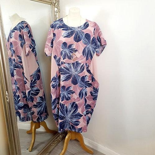 Lily Linen Dress Lilac