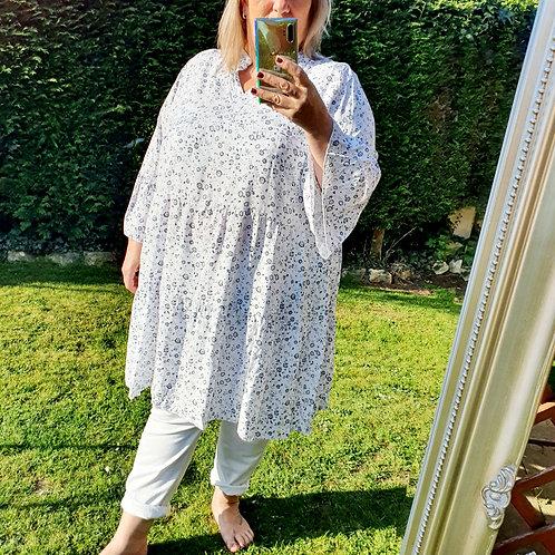 Sophia Smock Dress White