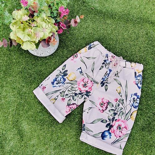 Magic Shorts Size 2  Floral Shorts Pink