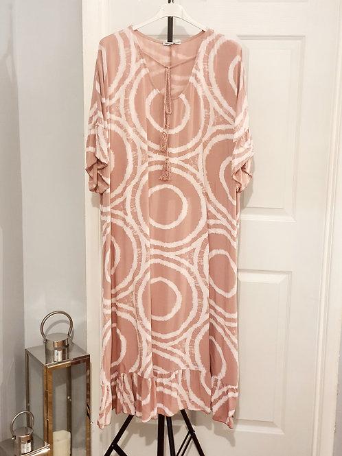 Tye Dye Maxi Dress Light Pink