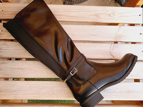 Abby Stirrup Boot Black