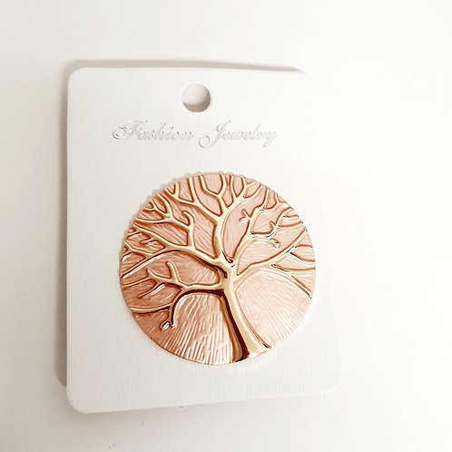 Tree of Life Magnet Brooch Blush Pink