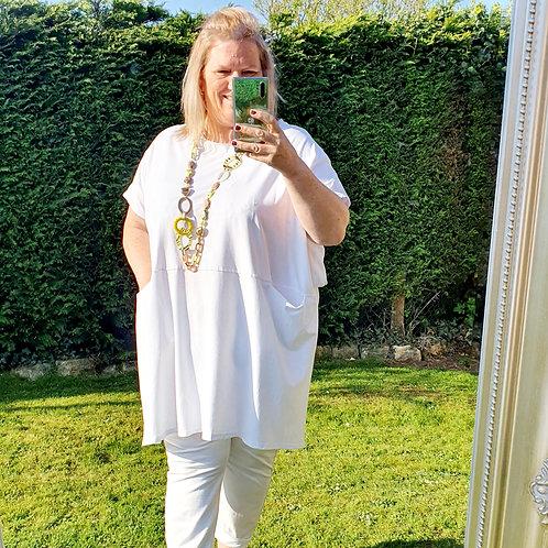 Gloria Over Sized Tunic White