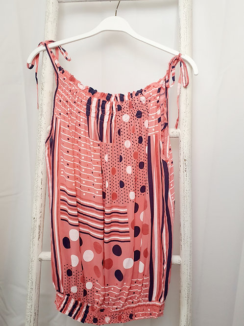 Abby Strappy Top Coral