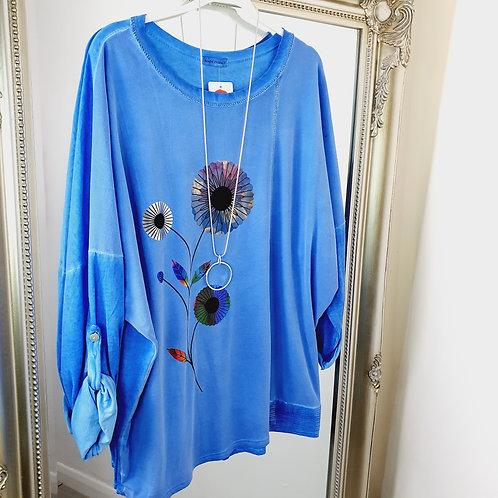Daisy Foil Top Cobalt Blue