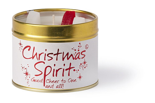 Christmas Spirit Tin Candle