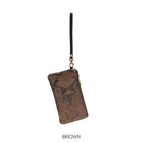 Leather Wristlet purse