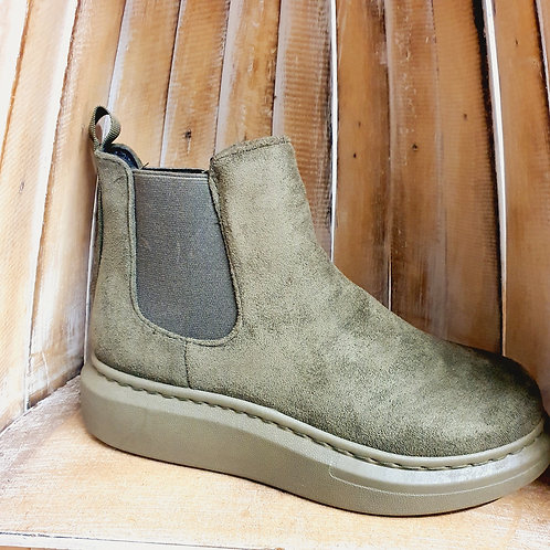 Gina Wedge Boot Army Green
