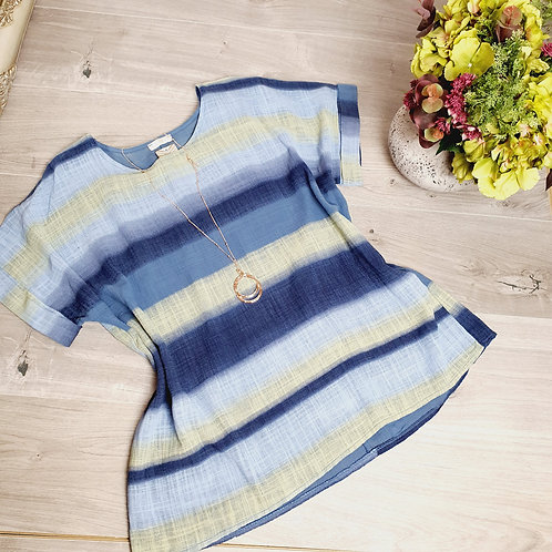 Dixie Stripe Top Denim