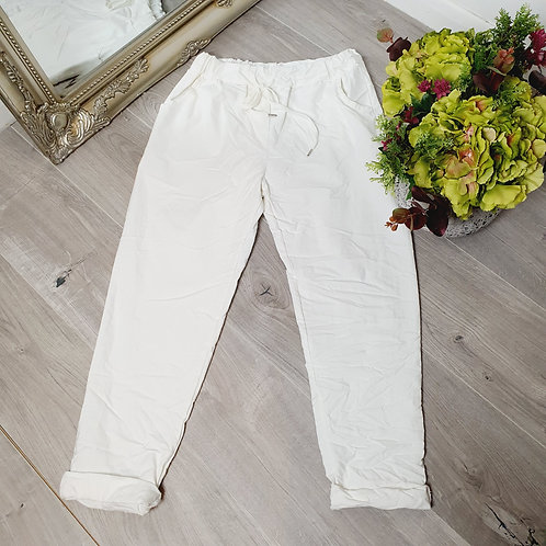 Magic Trousers Plain Size 1 White
