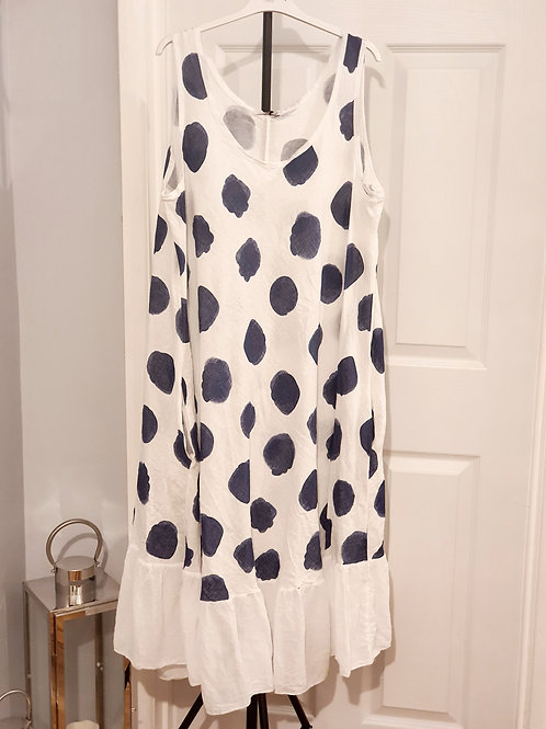 Melissa spotty Dress White