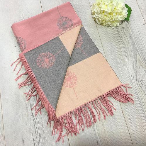 Dandelion Print Soft Warm Fine Winter Scarf