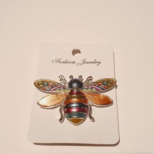 Buzzy Bee Magnet Brooch Rainbow