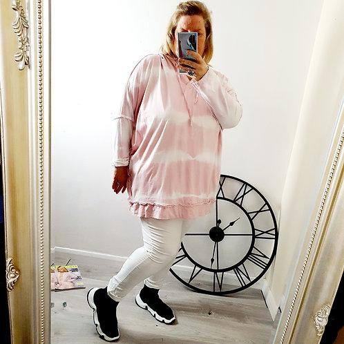 Tara Tye Dye Hoody Light Pink