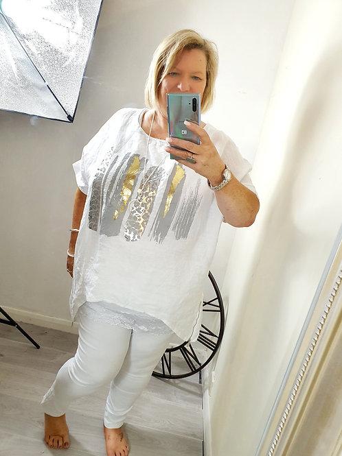 Zena Foil Top White