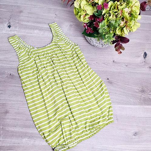 Belinda Stripe Vest Lime / White