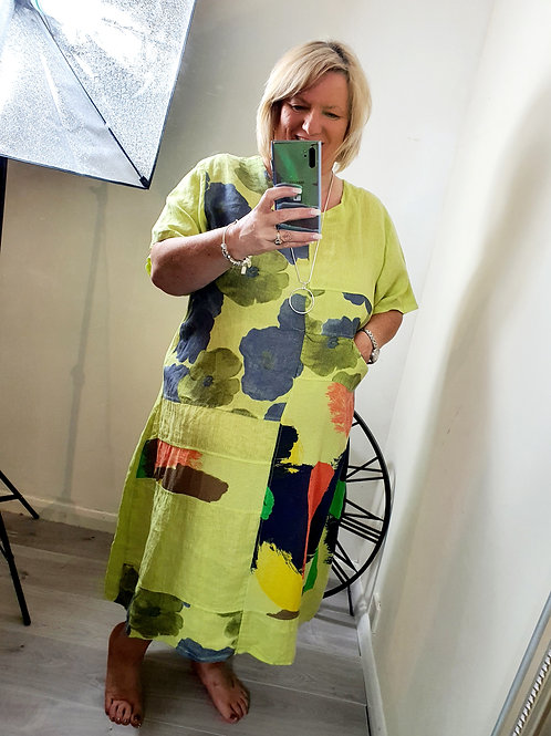 Splash of Colour Dress Lime