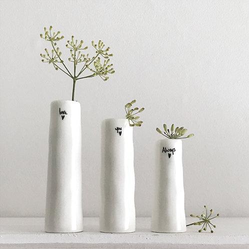 Love You Always Bud  Trio Vases