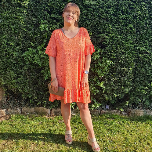 Dixie Dress Orange