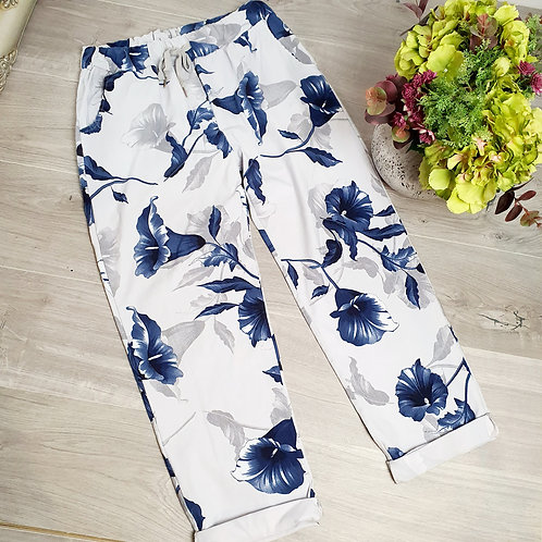 Magic Trousers Size 2 Floral Grey
