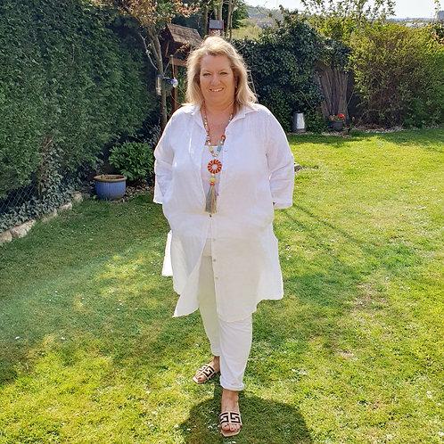 Dina Linen Shirt White