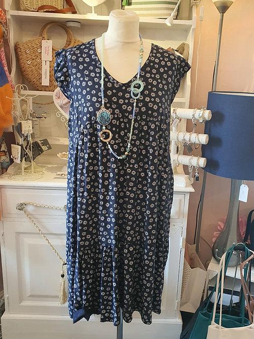 Kerrie Summer Dress Navy