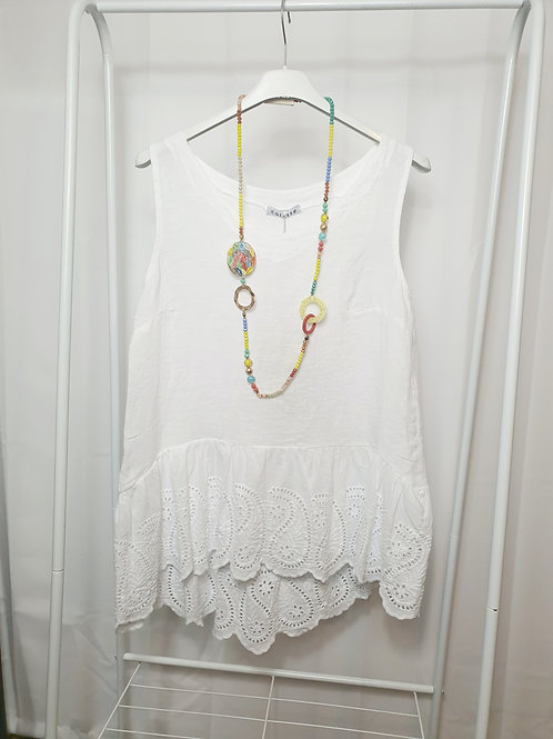 Chelsea Frill Top White