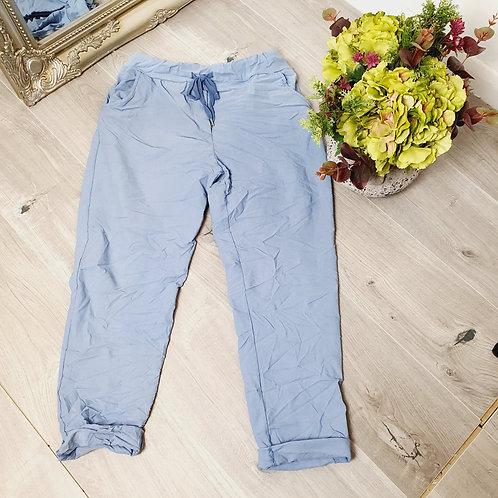Magic Trousers Plain Size 1 Light  Blue